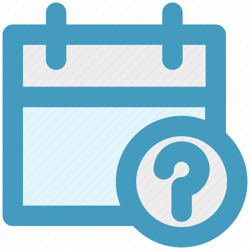 agenda, appointment, calendar, day, help, question sign icon