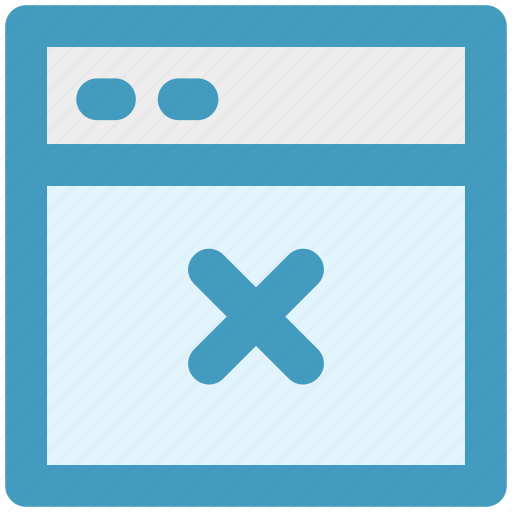 cross, delete, link, page, web, web page, web sites icon