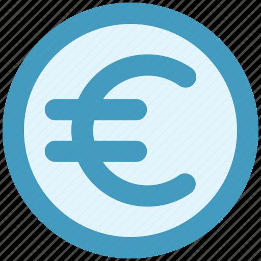 coin, currency, euro, euro coin, money icon