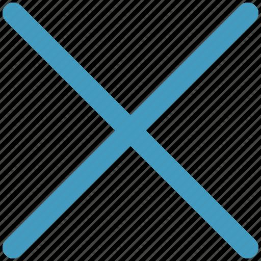 cross, del, delete, remove, remove sign, wrong icon