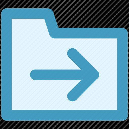archive, computer folder, file folder, folder, right, saving folder icon