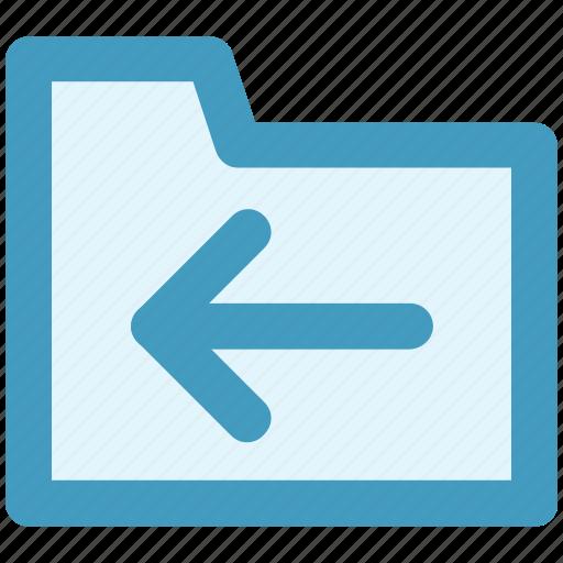 archive, computer folder, file folder, folder, left, saving folder icon