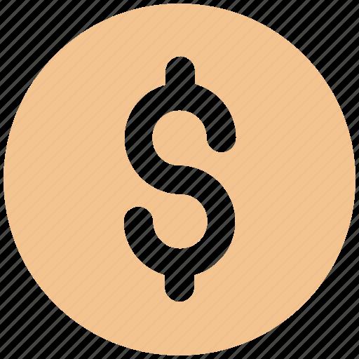 coin, currency, dollar, dollar coin, money icon