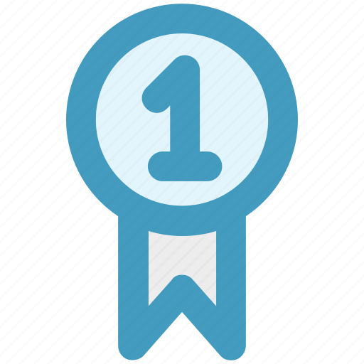 award, award badge, badge, first, first position, prize, ribbon icon