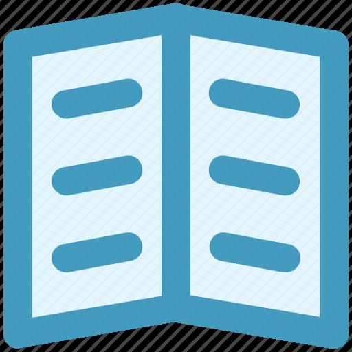 book, library, open book, read, school book, student book icon