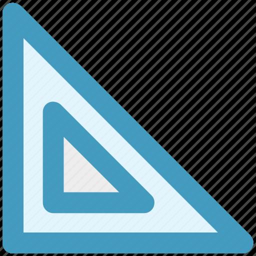 measure, ruler, scale, tools, triangle, triangle ruler icon