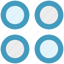 app, application, circle, four circles, sign icon