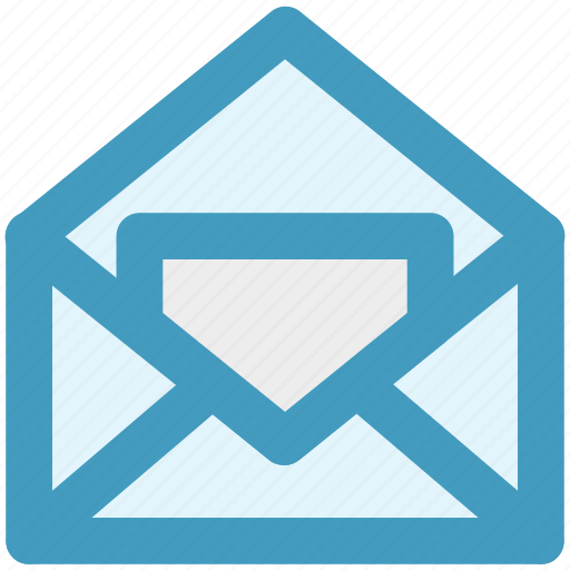 email, envelope, inbox, letter, mail, message, open envelope icon