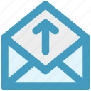 envelope, up, open envelope, letter, mail, message, email