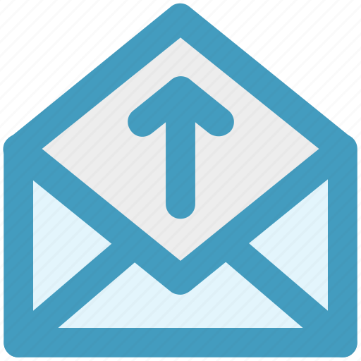email envelope letter mail message open envelope up icon