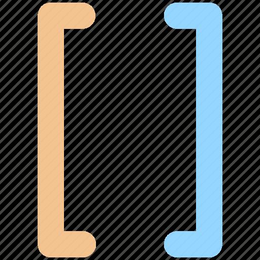 bracket, code, code editor, editor, script, square icon