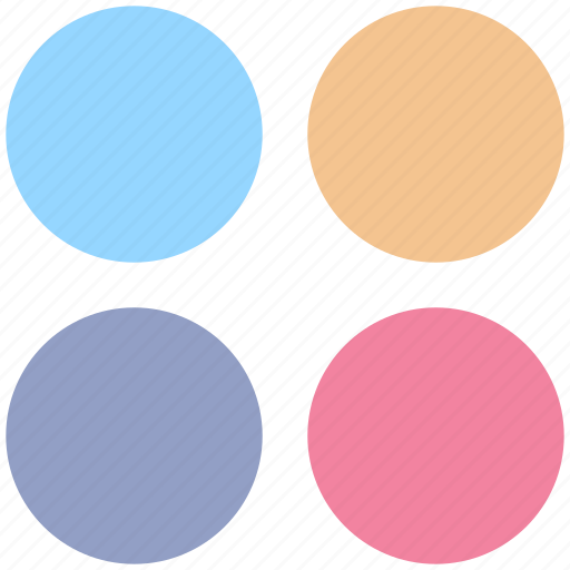 app, application, circle, four circles, sign icon