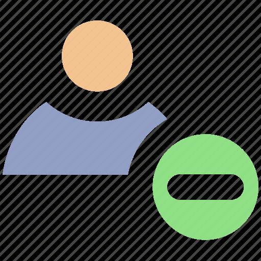 employee, human, minus, people, profile, remove, user icon