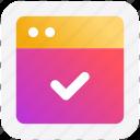 accept, link, page, web, web page, web sites icon