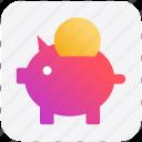 bank, coin, coin saving, piggy, piggy coin, saving