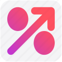 arrow, discount, percentage, percentage sign, percentage up arrow, up icon