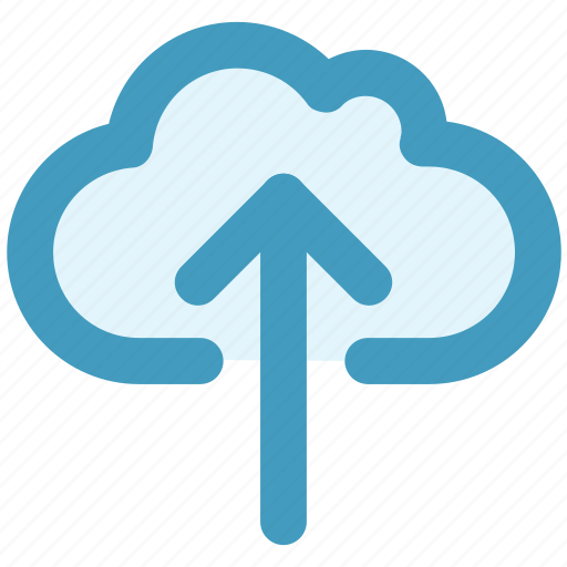 cloud, cloudy, data, storage, up arrow, upload, weather icon