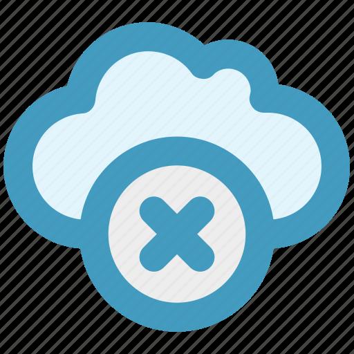 cloud, data, delete, reject, storage icon