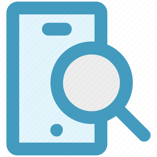 cell phone zoom, magnifier, mobile, search, searching, smartphone icon