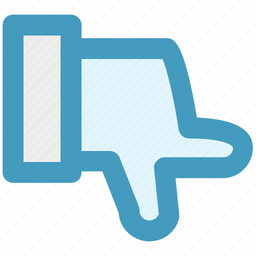 down, finger, hand, pointing, show, thumbs icon