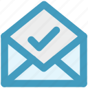 accept, email, envelope, letter, mail, message, open envelope