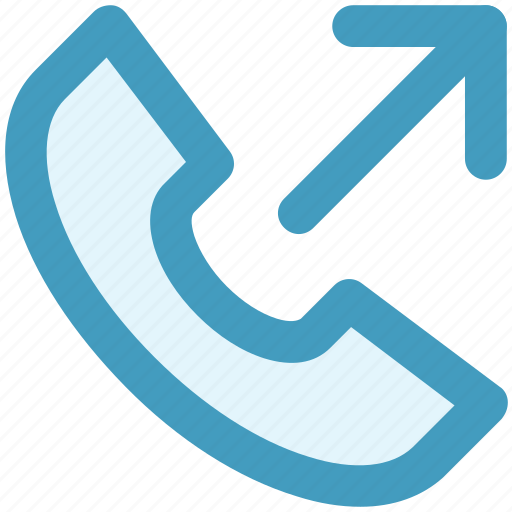 arrow, call, dial call, phone, received, receiver icon