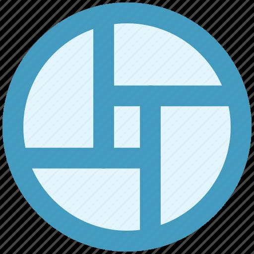 chart, circle, diagram, graph, pie chart icon