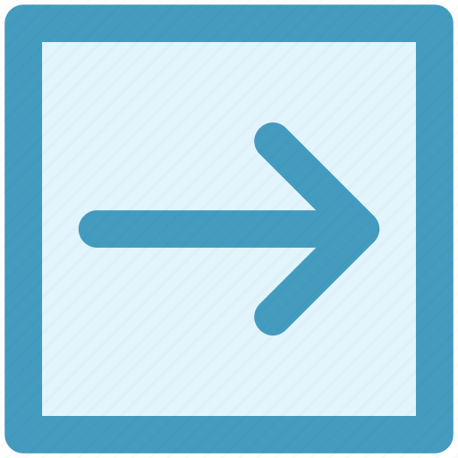 arrow, box, forward, material, right icon