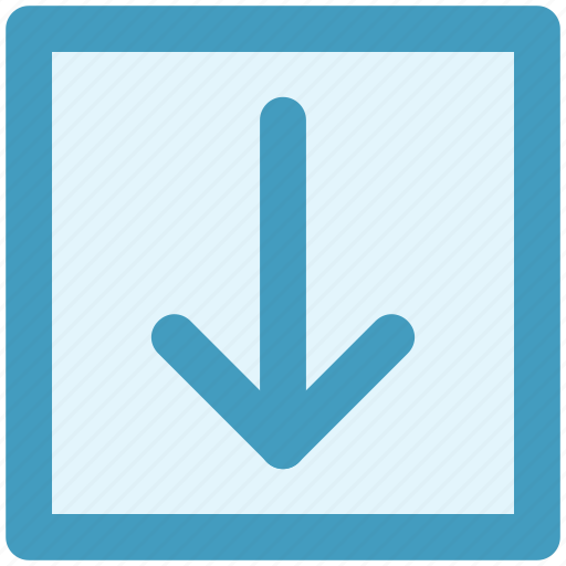 Arrow, box, down, forward, material icon - Download on Iconfinder
