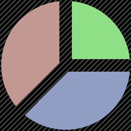 chart, diagram, graph, pie, pie chart icon