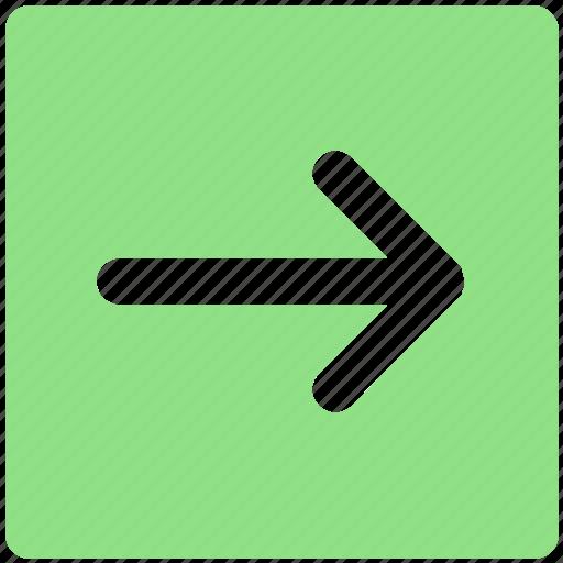 arrow, box, forward, material, right icon