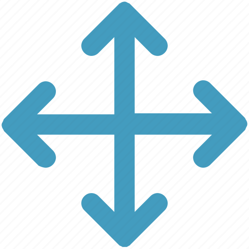 arrows, directions, enlarge, four icon