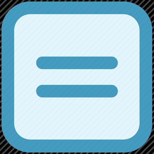 equal, interface, math, mathematics, web icon