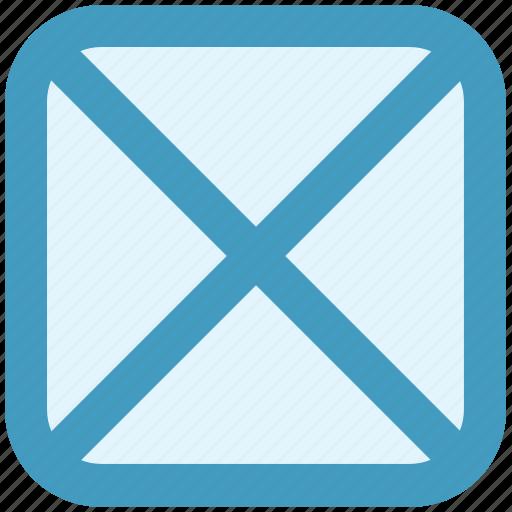 blocking, cross, mark, no, shape, wrong icon