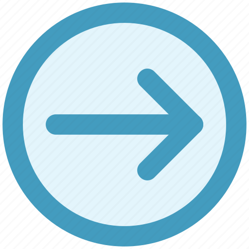 Arrow, circle, forward, material, right icon - Download on Iconfinder