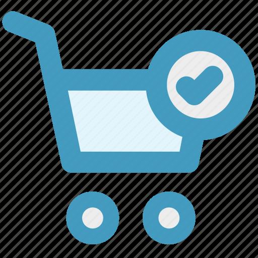 accept, cart, ecommerce, good, shopping, shopping cart icon