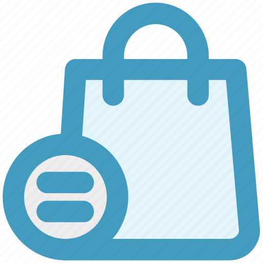 bag, equal, fashion, hand bag, shopping bag icon