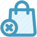 bag, cross, fashion, hand bag, reject, shopping bag icon