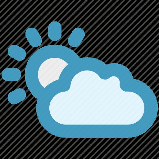autumn, cloud, cloudy, sun, weather icon