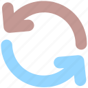 arrows, circle, loading, loading arrow, sync icon