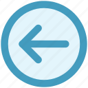 arrow, forward, left, left arrow icon