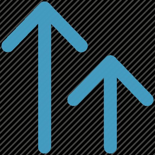 arrows, unloading, up arrows icon
