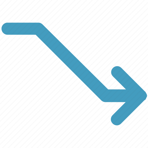 arrow, bar, diagram, down, increase icon