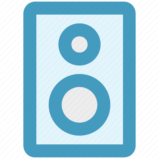 audio speaker, bass, buffer, loudspeaker, music, sound icon
