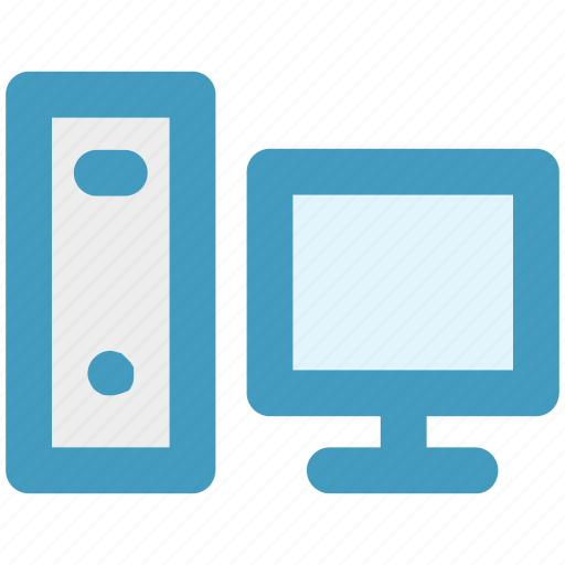 computer, cpu, desktop, device, lcd, pc icon