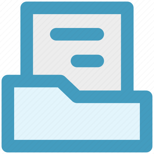 computer folder, document, files, folder, papers icon