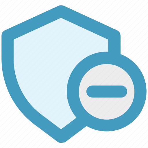 Minus, secure, security, security sign, shield, sign icon - Download on Iconfinder