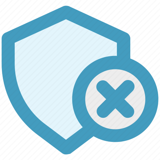 Reject, secure, security, security sign, shield, sign icon - Download on Iconfinder
