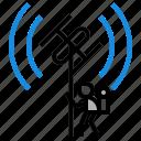 antena, radio, satellite, space icon