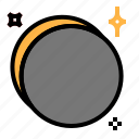 eclipse, moon, space, sun icon